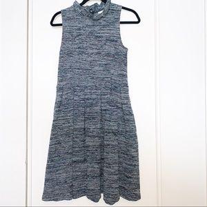 Ganni Midi Medium Sleeveless Tweed Dress